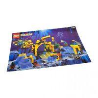 1x Lego Bauanleitung A4 Aquazone Neptune Labor 6195