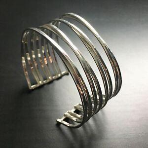 Entwined Cuff Bangle -Statement Heavy 925 Sterling Silver Bangle