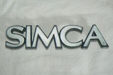 SIMCA  sigle embleme logo insigne monogramme de carrosserie plastique