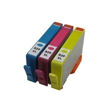 3PK Compatible Combo HP 920XL Yellow Magenta Cyan Ink Cartridges 7000 7500a