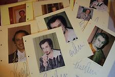 Leo Nucci-ópera - 17 autógrafos originales-tamaño 30 x 21 cm