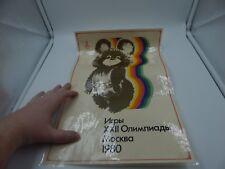 1980 Moscow Olympics Poster Misha Bear Mascot Russia