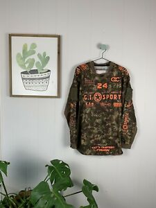 AC: Dallas GI SPORTZ Camo & Orange Planet Eclipse Paintball Jersey Size XL