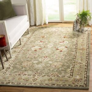 William Morris Style Arts & Crafts Hand Tufted Plush Area Rug **FREE SHIPPING**