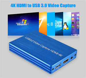 Video Capture Box 1080P FHD 60fps Dongle HD Video Recorder 4K HDMI to USB 3.0 AU