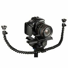 Flexible Dual-arm Dual-shoe Flash Bracket for MACRO SHOT for CANON etc