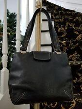 Giorgio Armani black pebbled leather shoulderbag