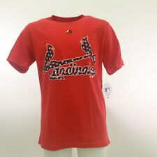 St. Louis Cardinals Official MLB Majestic Kids Youth Size T-Shirt New With Tags