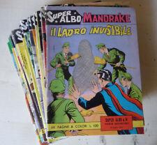 """LOTTO 22 FUMETTI """"MANDRAKE SUPER ALBO"""" + SPECIAL ED. FRATELLI SPADA 1962 - FUM14"""