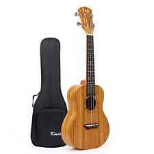 Ukulélé Concert 58.4cm à 4 cordes guitare bois de zèbre avec housse pour cadeau