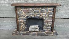 Dollhouse Fireplace, Hand carved fireplace , stone fireplace , 1:12 fireplace