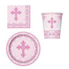Articles de fête roses sans marque pour la maison Baptême
