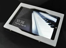 MS Surface Pro 3/4 White Acrylic Security Enclosure w Wall Mount Kit 4 Kiosk POS
