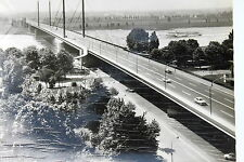 21764 Ak Düsseldorf Theodor-Heuss-Brücke Rhein Ships Trees Cars Auen to 1960