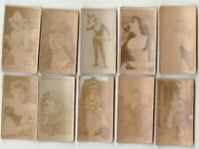 10 Victorian Girl Cigarette Cards Sweet Caporal Cigarette, Antique Trading Cards
