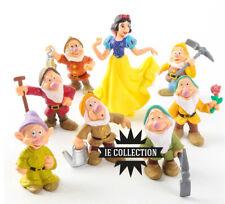 BIANCANEVE E I SETTE NANI SET 8 STATUETTE FIGURE torta 7 disney snow white toys