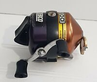 Zebco 600 Copper Top Reel, Anti-Reverse, Wide Range Drag, Made in USA, Pre-owned
