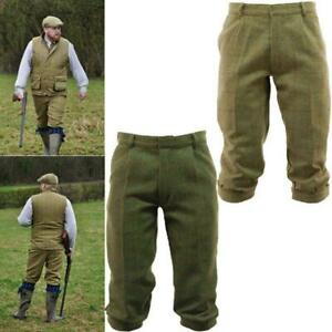 Tweed Breeks Classic Shooting Hunting Country Trousers Plus Fours Breech Shorts