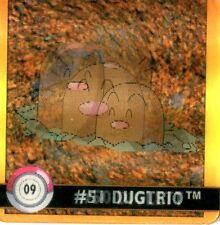 FLIPZ - POKEMON -Premier Edition- N° 09 #50 #51 DUGTRIO DIGLETT