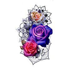 Flash Einmal Temporary Klebe Tattoo Rose Blau Rot Weiß Party Geschenk Strand