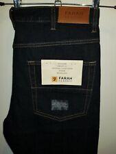 Stylish BNWT denim jeans by FARAH - Darkwood Rigid - Dark indigo blue W34 L30