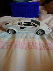 Polistil Tonka Vintage 80's Diecast White Lamborghini Countach 1:18 Scale