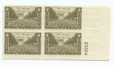 U.S. SCOTT 934 MNH 3 CENT PLATE BLOCK OF 4,- 1946, ARMY ISSUE