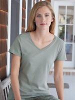 Hanes - Nano-T Women's V-Neck T-Shirt - S04V