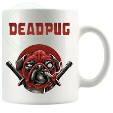 Deadpool Pug Nouveauté Tasse style 2 Anniversaire Mothersday fathersday cadeaux