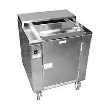 Carter-Hoffmann Cd27 Heated Dish Storage Cart w/ Dish Dividers and Rotary Design