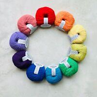 100%Extra Fine Merino RAINBOW baby yarn Oeko-Tex knitting crochet gift 10x50g