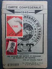 Carte Parti Républicain Radical et Radical Socialiste 1950 politique PRR et RS