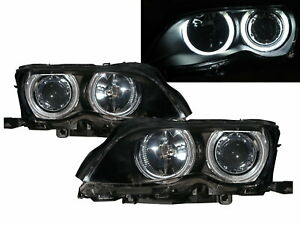3-Series E46 MK4 2002-2006 Sedan 4D CCFL Projector Headlight Black for BMW LHD