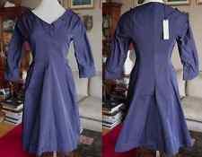 New Jil Sander by Raf Simons navy silk dress, sz 36 / US 4, with pockets