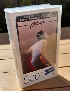 Movie Lovers Footloose Jigsaw Puzzle Retro Vhs Cover Box Blockbuster 500 Pieces