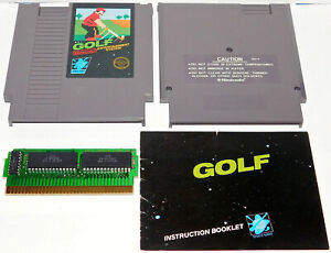 Nes Nintendo Entertainment System Game Golf With Manual Book Tested Working