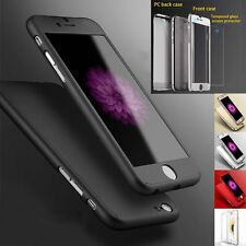 Hybrid 360° Tempered Glass + Acrylic Hard Case Cover Skin For iPhone 6 & 6S Plus