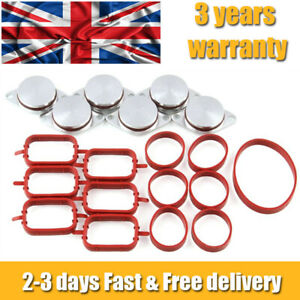 6x 22mm SWIRL FLAP BUNGS WITH GASKETS FOR BMW 320d 330d 520d 525d 530d AP