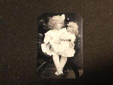 Cute little girl with Big doll in arms tintype C1222RP