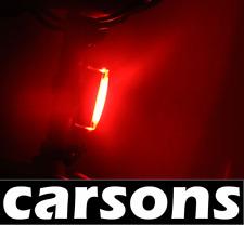 rear red led cob rechargeable usb bike light kit - alloy aluminium powerful tail