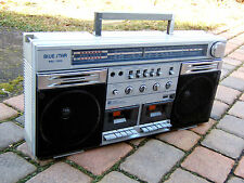 Radiotone Blue star RRC 1000 Ghettoblaster Boombox Radio 80er 80s Vintage