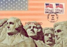 Continental-size FIRST DAY ISSUE - MOUNT RUSHMORE MAT'L MEMORIAL MARCH 29, 1991