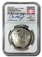 2014 P $1 Silver NGC PF-70 Ultra Cameo - Authentic Hand-Signed Cal Ripken, Jr. B