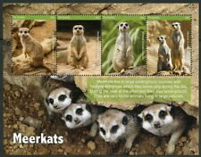 Gambia 2017 Meerkats Set Of Two Sheets Mint Nh