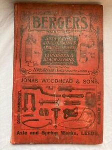 BERGERS AXLE & SPRING WORKS for HORSE DRAWN Vehicles 1906 CATALOGUE / DIARY