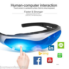 80'' 2D Video Virtual Reality Glasses Bluetooth Wifi Touch Screen Head Mount