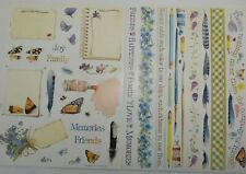 "Vintage Marjolein Bastin Hallmark Stickers Two 8 1/2"" x 11"" Sheets Paint Feather"