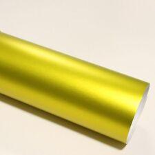 3x DIN A4 Wrapping Folie Chrom Matt Gold 21cm x 29,7cm Autofolie mit Luftkanälen