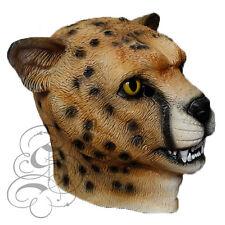 Latex Animal Wild Cat Cheetah Leopard Fancy Dress Props Carnival Party Mask