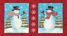 1 Half Metre Length Moda Snow Much Fun Snowmen Cushion Panels Fabric - 19800-12